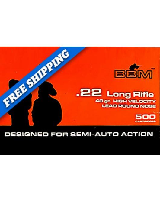 BBM .22 LR (500 Rounds)